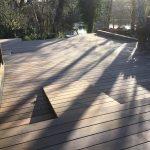 Ny terrasse Brønshøj, Herlev, Rødovre, solen skinner på terrassen