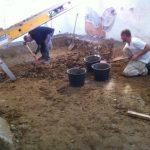 Gulvvarme Brønshøj, Herlev, Rødovre, jord fjernes fra kælder