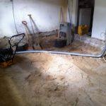 Gulvvarme Brønshøj, Herlev, Rødovre, gulv fjernet i kælder