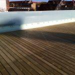Ny terrasse Brønshøj, Herlev, Rødovre, tagterasse med gelænder rundt om