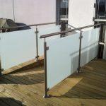 Ny terrasse Brønshøj, Herlev, Rødovre, tagterrasse med mat glas gelænder