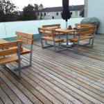Ny terrasse Brønshøj, Herlev, Rødovre, bænke på tagterrasen