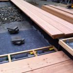Ny terrasse Brønshøj, Herlev, Rødovre, træterrasse bygges